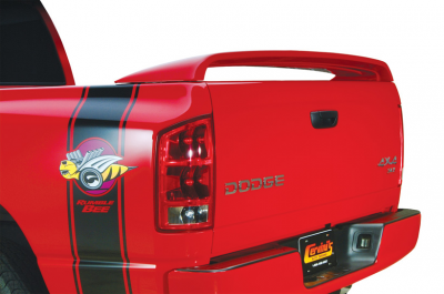 HEMI EXTERIOR PARTS - Hemi Trim Accessories - Cervini's - Cervinis SRT10 Rear Spoiler: Dodge Ram 2002 - 2008 (All Models)