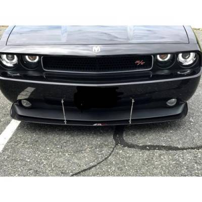 HEMI EXTERIOR PARTS - Hemi Trim Accessories - APR - APR Carbon Fiber Front Wind Splitter w/ Rods: Dodge Challenger SE/ RT 2009 - 2010