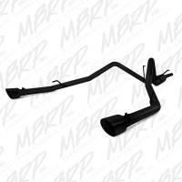 "MBRP - MBRP Cat-Back Dual 2 1/2"" Rear Exit Exhaust (Black Coated): Dodge Ram 5.7L Hemi 2009 - 2018"