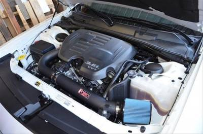 Dodge Challenger Engine Performance - Dodge Challenger Air Intake & Filter - Injen - Injen Power Flow Air Intake: Chrysler 300C / Dodge Challenger / Charger / Magnum 2005 - 2016 (5.7L Hemi & SRT8)