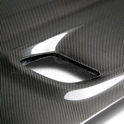 Anderson Composites - Anderson Composites Hellcat Carbon Fiber Hood: Dodge Challenger SRT Hellcat 2015 - 2020 - Image 4
