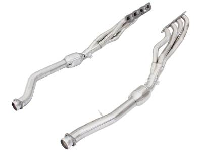 Jeep Grand Cherokee Engine Parts - Jeep Grand Cherokee Headers - AFE Power - AFE Long-Tube Headers & Mid Pipes: Jeep Grand Cherokee 6.4L SRT / 6.2L Track Hawk 2012 - 2020