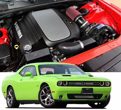 DODGE CHALLENGER PARTS - Dodge Challenger Supercharger Kits - Procharger - Procharger Supercharger Kit: Dodge Challenger 5.7L Hemi 2015 - 2019