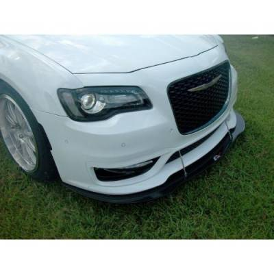 HEMI EXTERIOR PARTS - Hemi Trim Accessories - APR - APR Carbon Fiber Front Wind Splitter w/ Rods: Chrysler 300 SRT 2017 - 2021