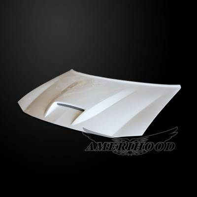 HEMI EXTERIOR PARTS - Hemi Hoods - Amerihood - Amerihood SRT Functional Ram Air Hood: Dodge Charger 2006 - 2010