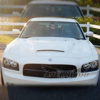 Amerihood - Amerihood RKS Functional Ram Air Hood: Dodge Charger 2006 - 2010 - Image 6