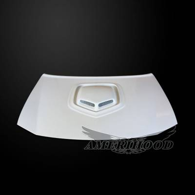 HEMI EXTERIOR PARTS - Hemi Hoods - Amerihood - Amerihood Shaker Style Functional Ram Air Hood: Dodge Charger 2006 - 2010