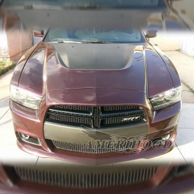 Amerihood - Amerihood SRT Functional Ram Air Hood: Dodge Charger 2011 - 2014 - Image 7