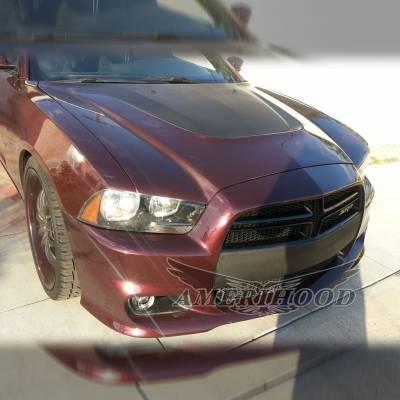 Amerihood - Amerihood SRT Functional Ram Air Hood: Dodge Charger 2011 - 2014 - Image 9