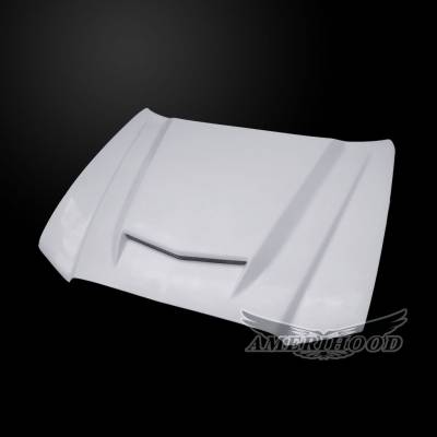 HEMI EXTERIOR PARTS - Hemi Hoods - Amerihood - Amerihood RS Functional Ram Air Hood: Dodge Charger 2011 - 2014