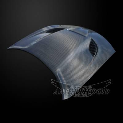 Amerihood - Amerihood Carbon Fiber Hellcat Functional Ram Air Hood: Dodge Charger 2015 - 2020 - Image 3