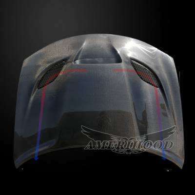 Amerihood - Amerihood Carbon Fiber Hellcat Functional Ram Air Hood: Dodge Charger 2015 - 2020 - Image 4