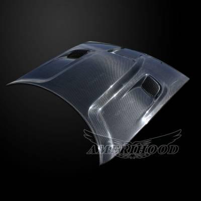 Amerihood - Amerihood Carbon Fiber Hellcat Functional Ram Air Hood: Dodge Challenger 2008 - 2020 - Image 2
