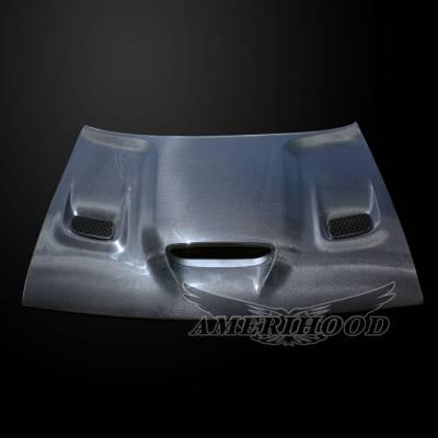 Amerihood - Amerihood Carbon Fiber Hellcat Functional Ram Air Hood: Dodge Challenger 2008 - 2020 - Image 3