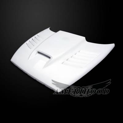 HEMI EXTERIOR PARTS - Hemi Hoods - Amerihood - Amerihood SSK Functional Ram Air Hood: Dodge Dakota 1997 - 2004