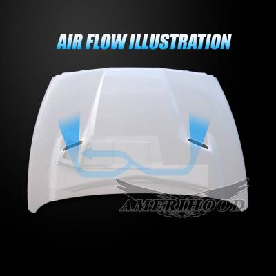 Amerihood - Amerihood CLG Functional Ram Air Hood: Dodge Ram 2500 2003 - 2009 - Image 4