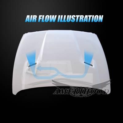 Amerihood - Amerihood CLG Functional Ram Air Hood: Dodge Ram 3500 2003 - 2009 - Image 4