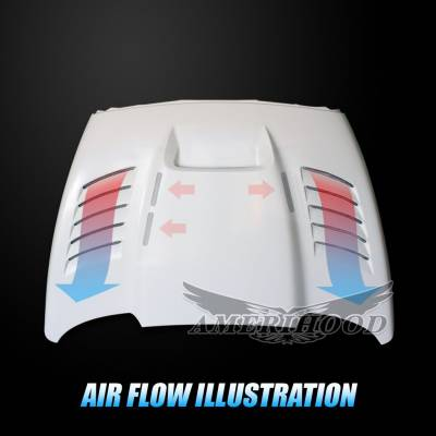Amerihood - Amerihood SSK Functional Ram Air Hood: Dodge Ram 1500 2002 - 2008 - Image 10