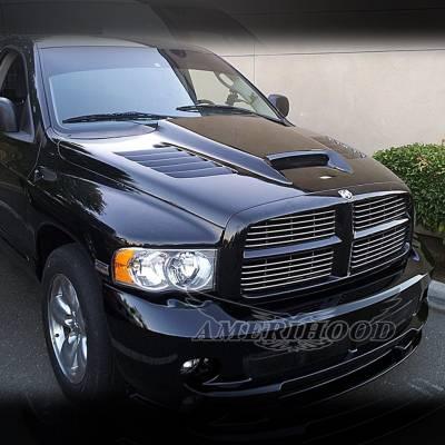 Amerihood - Amerihood SSK Functional Ram Air Hood: Dodge Ram 3500 2003 - 2009 - Image 11