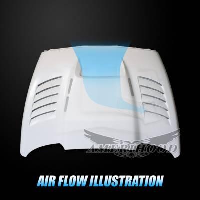 Amerihood - Amerihood SSK Functional Ram Air Hood: Dodge Ram 3500 2003 - 2009 - Image 6