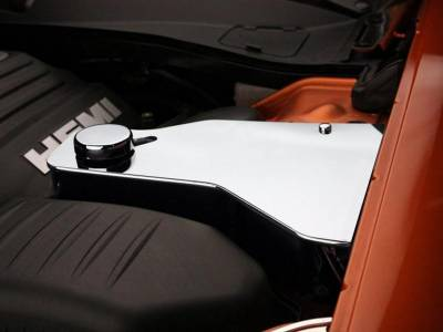 American Car Craft - American Car Craft Polished Water Tank Cover w/ Cap: Chrysler 300 / Dodge Charger 2011 - 2021 - Image 2