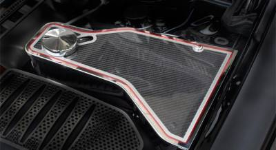 American Car Craft - American Car Craft Carbon Fiber Water Tank Top Cover Plate: Dodge Challenger 2011 - 2020 (V8 Models) - Image 3
