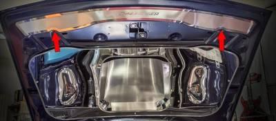 American Car Craft - American Car Craft Polished Upper Hood Cap (CHALLENGER LETTERING): Dodge Challenger 2015 - 2020 - Image 4