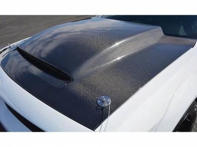 Anderson Composites - Anderson Composites Demon Carbon Fiber Hood: Dodge Challenger 2008 - 2020 - Image 4