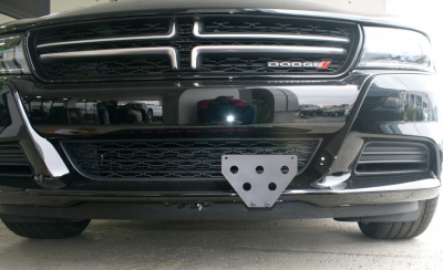 Dodge Charger Exterior Parts - Dodge Charger License Bracket - StoNSho - Sto N Sho Quick Release Front License Plate Bracket: Dodge Charger SXT / GT / RT 2015 - 2020 (WITH Adaptive Cruise)