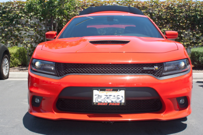 Dodge Charger Exterior Parts - Dodge Charger License Bracket - StoNSho - Sto N Sho Quick Release Front License Plate Bracket: Dodge Charger SRT / Hellcat / ScatPack / Daytona 2015 - 2018 (WITH Adaptive Cruise)