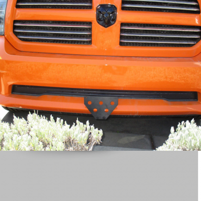 Dodge Ram Exterior Parts - Dodge Ram License Bracket - StoNSho - Sto N Sho Quick Release Front License Plate Bracket: Dodge Ram Sport 2017