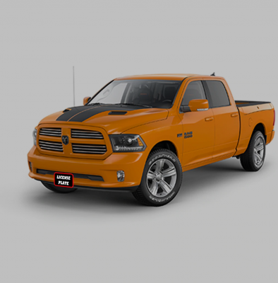 StoNSho - Sto N Sho Quick Release Front License Plate Bracket: Dodge Ram Sport 2017 - Image 5