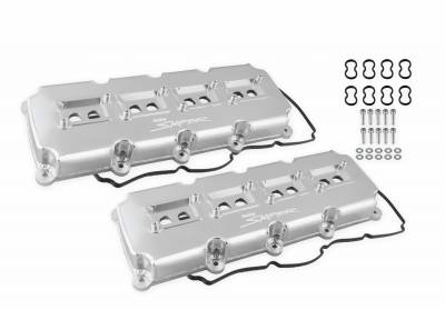 JEEP GRAND CHEROKEE PARTS - Jeep Grand Cherokee Engine Acc - Holley - Holley Sniper Valve Covers: Chrysler / Dodge / Jeep 5.7L Hemi, 6.1L SRT8 & 6.4L 392 2005 - 2021