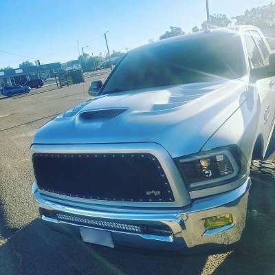 Amerihood - Amerihood VIP Functional Ram Air Hood: Dodge Ram 1500 2009 - 2018 - Image 6
