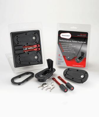 AeroCatch - AeroCatch Flush Hood Pin and Latch Kit (Universal) BLACK - LOCKING - Image 3