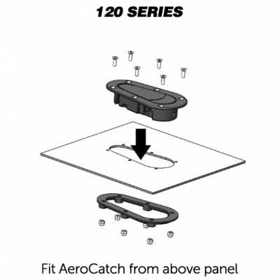 AeroCatch - AeroCatch Flush Hood Pin and Latch Kit (Universal) BLACK - LOCKING - Image 2