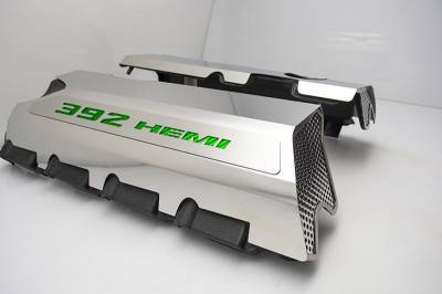 "American Car Craft - American Car Craft ""392"" Polished Fuel Rail Covers (CARBON FIBER): Dodge / Chrysler / Jeep 6.4L 392 2011 - 2021 - Image 3"