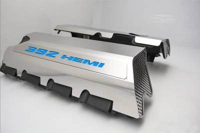 "American Car Craft - American Car Craft ""392"" Polished Fuel Rail Covers (CARBON FIBER): Dodge / Chrysler / Jeep 6.4L 392 2011 - 2021 - Image 5"