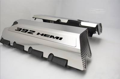 "American Car Craft - American Car Craft ""392"" Polished Fuel Rail Covers (CARBON FIBER): Dodge / Chrysler / Jeep 6.4L 392 2011 - 2021 - Image 10"