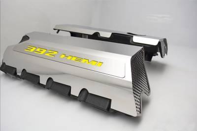 "American Car Craft - American Car Craft ""392"" Polished Fuel Rail Covers (CARBON FIBER): Dodge / Chrysler / Jeep 6.4L 392 2011 - 2021 - Image 11"
