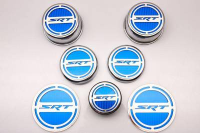 """American Car Craft - American Car Craft """"SRT"""" Deluxe Fluid & Shock Tower Cap Covers (13PC): Dodge Challenger V8 2008 - 2021 - Image 3"""