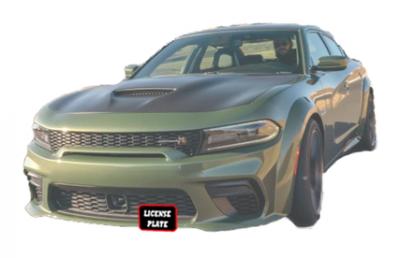 HEMI EXTERIOR PARTS - Hemi Quick Release License Plate Bracket - StoNSho - Sto N Sho Quick Release Front License Plate Bracket: Dodge Charger Hellcat / ScatPack / Daytona WIDEBODY 2019 - 2021 (WITH Adaptive Cruise)