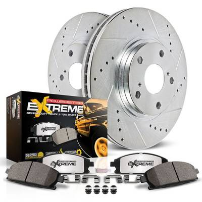 HEMI BRAKE PARTS - Hemi Big Brake Kits - Powerstop - Powerstop Z36 Rear Brake Kit: Dodge Ram 1500 2019 - 2021
