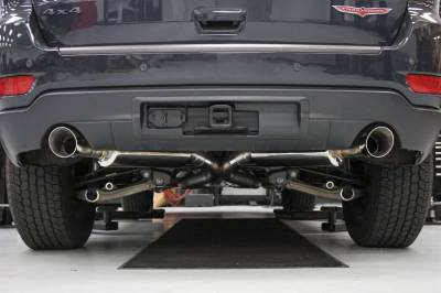 Jeep Grand Cherokee Engine Parts - Jeep Grand Cherokee Exhaust - Hooker Blackheart - Hooker Blackheart Exhaust System: Jeep Grand Cherokee 5.7L Hemi 2011 - 2021