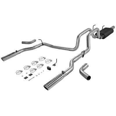 3.7L / 4.7L Engine Parts - 3.7L / 4.7L Exhaust Systems - Flowmaster - Flowmaster American Thunder Exhaust System (Dual Rear Exit): Dodge Ram 4.7L V8 1500 2006 - 2008 (Aluminized Steel)