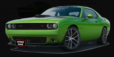 HEMI EXTERIOR PARTS - Hemi Quick Release License Plate Bracket - StoNSho - Sto N Sho Quick Release Front License Plate Bracket: Dodge Challenger 2015 - 2021 (WITH Adaptive Cruise)