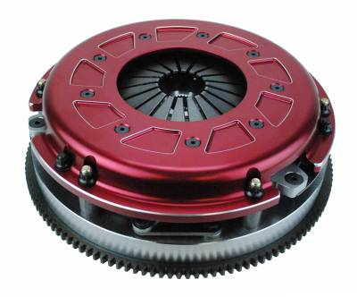 Dodge Challenger Transmission Parts - Dodge Challenger Flywheels - RAM Clutches - Ram Clutches Pro Street Twin Disc Clutch Kit (Organic Disc): Dodge Challenger 2008 - 2021 (Fits ALL Hemi Models, Including Hellcat)