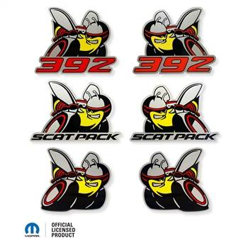 Dodge Challenger Exterior Parts - Dodge Challenger Emblem - American Brother Designs - American Brother Designs SCATPACK Acrylic Badge (OEM Colors): Dodge Challenger / Charger 2015 - 2021