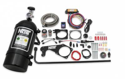 NOS - NOS Plate Wet Nitrous Kit (Black Bottle): 300 / Charger / Challenger 5.7L Hemi & 6.1L SRT8 2006 - 2021