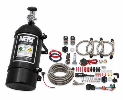 Dodge Ram Engine Performance - Dodge Ram Nitrous System - NOS - NOS Single Fogger Wet Nitrous Kit (Black Bottle): Chrysler / Dodge / Jeep / Ram V6 & V8 2005 - 2021
